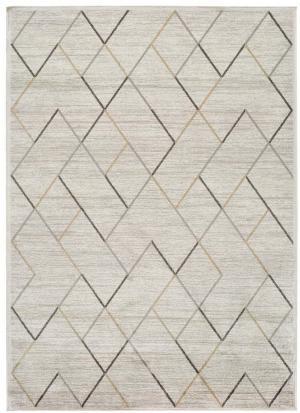 Krémový koberec z viskózy Universal Belga, 70 x 110 cm