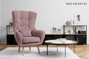 Křeslo ARTI výběr čalounění Provedení: Mat Velvet 63