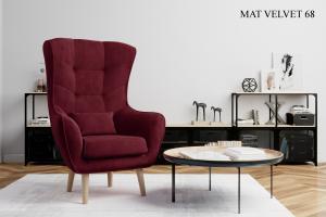 Křeslo ARTI výběr čalounění Provedení: Mat Velvet 68