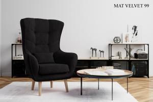 Křeslo ARTI výběr čalounění Provedení: Mat Velvet 99