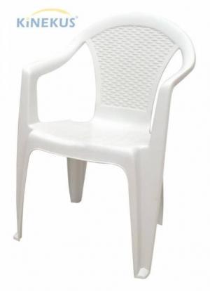 Plastové kreslo KORA, biele