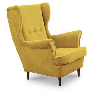 Kreslo - Tempo Kondela - Rufino (žltá + wenge). Sme autorizovaný predajca Tempo-Kondela.