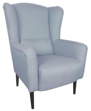 Kreslo ušiak Canto, modrá tkanina
