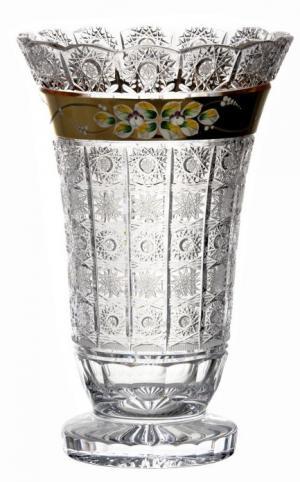 Krištáľová váza 500K Zlato, farba číry krištáľ, výška 355 mm