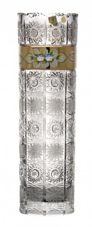 Krištáľová váza 500K Zlato, farba číry krištáľ, výška 360 mm