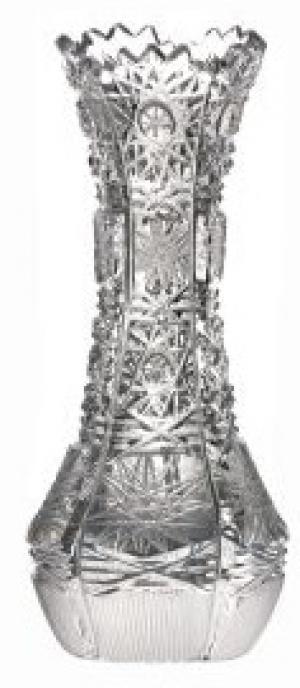 Krištáľová váza 500PK, farba číry krištáľ, výška 126 mm