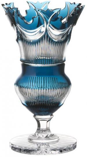 Krištáľová váza Diadem, farba azúrová, výška 360 mm