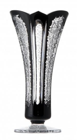 Krištáľová váza Frigus, farba čierna, výška 300 mm
