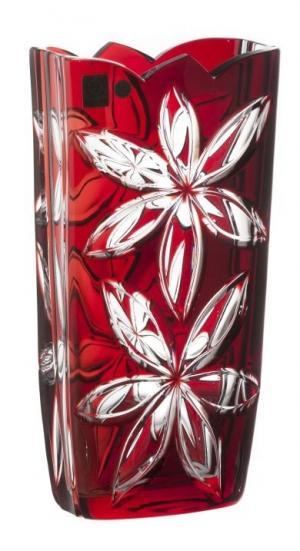 Krištáľová váza Linda, farba rubínová, výška 255 mm
