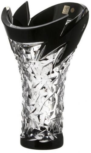 Krištáľová váza Neptune, farba čierna, výška 300 mm