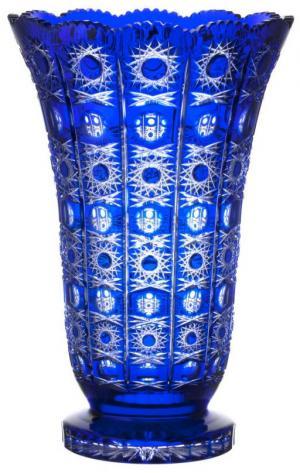Krištáľová váza Petra, farba modrá, výška 405 mm