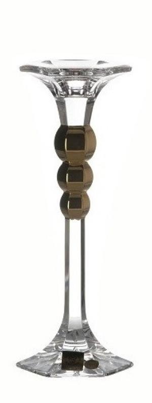 Krištáľový svietnik Empire Gold, farba číry krištáľ, výška 205 mm