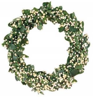 krušpánový venček  zeleno-biely, ø 6 cm