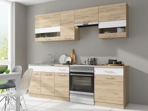Kuchyňa - Renar - Rio 240 cm (dub san remo + biela). Sme autorizovaný predajca Renar.