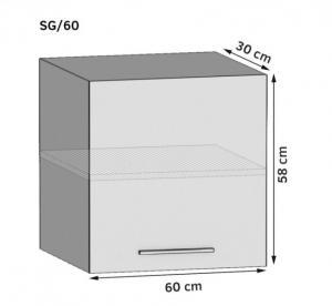 Kuchynská skriňa horná 60 cm