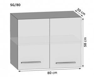 Kuchynská skriňa horná 80 cm
