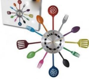 Kuchynské hodiny Cuisine farebné 45cm