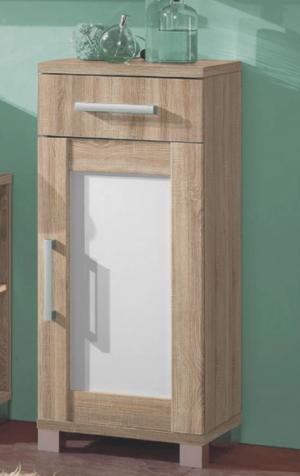 Kúpeľňová bočná skrinka Poseidon, dub Sonoma