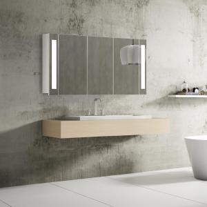 Kúpeľňová skrinka Venedig, 120 cm, biela, s LED svetlom