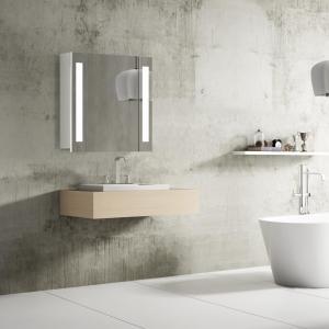 Kúpeľňová skrinka VENEDIG 60 cm, biela, s LED osvetlením