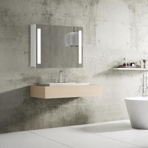 Kúpeľňová skrinka VENEDIG, 80 cm, biela, s LED svetlom