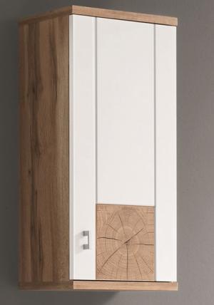 Kúpeľňová závesná  skrinka Spalt, divoký dub wotan/biela