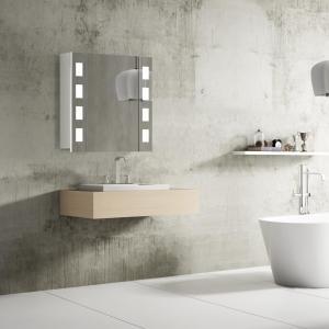 Kúpeľňové zrkadlo FLORENZ, 60 cm, biele, LED osvetlenie