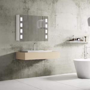 Kúpeľňové zrkadlo FLORENZ, 80 cm, biela, LED osvetlenie