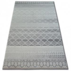 Kusový koberec AKRYLOVÝ PATARA 0242 krémový/tyrkysový