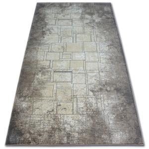 Kusový koberec ARGENT - W2601 štvorce, obdĺžnik, modrý/béžový