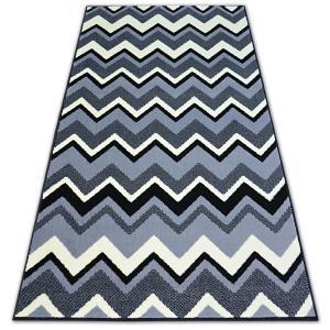 Kusový koberec BCF BASE ZIGZAG 3812 CIKCAK černý/šedý