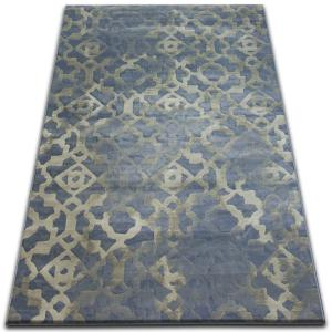 Kusový koberec DROP JASMINE 454 hmla/svetlomodrý
