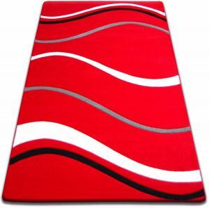 Kusový koberec FOCUS - 8732 mořské vlny / červený