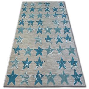 Kusový koberec LISBOA 27219/754 hvězda tyrkysový