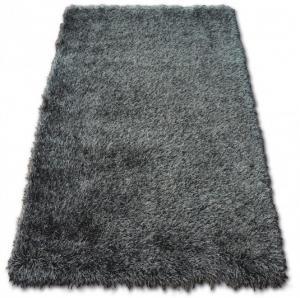 Kusový koberec LOVE SHAGGY černý