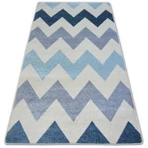 Kusový koberec NORDIC cikcak modrý FA66
