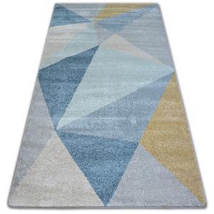 Kusový koberec NORDIC SOLID krémový/modrý G4576