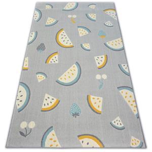 Kusový koberec PASTEL 18407/052 - vodní meloun / šedý tyrkysoý zlatý