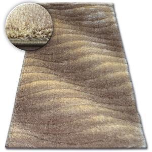 Kusový koberec Shaggy SPACE 3D JASON světle hnědý