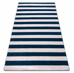 Kusový koberec SKETCH CALLUM modrý/biely - pruhovaný