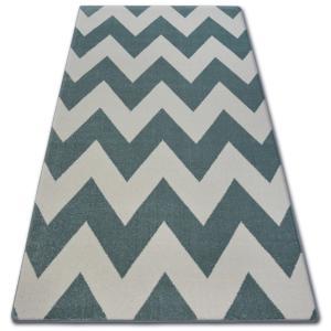Kusový koberec SKETCH DAN tyrkysový/krémový - cikcak