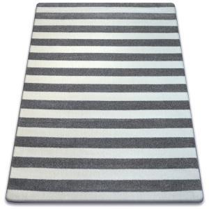Kusový koberec SKETCH WILLIAM sivý/biely - pruhovaný
