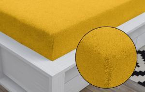 Kvalitex Froté prestieradlo (80 x 200 cm) - sýto žlté