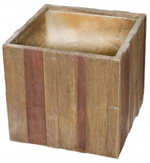 Kvetináč G21 Wood Cube 55 cm
