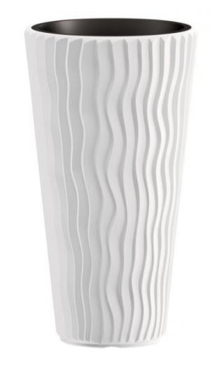 Kvetináč Long Sandy biely