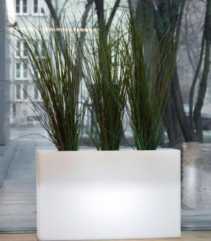 Kvetináč Lungo Maxi s osvetlením biely
