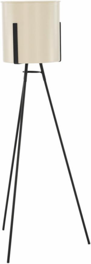 Kvetináč na trojnožke, čierna/krémová, VIAT TYP 2