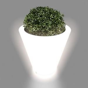 Kvetináč Ovo s osvetlením biely