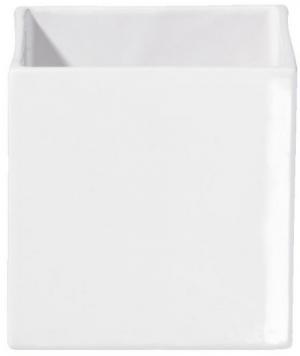 Květináč QUADRO ASA Selection bílý, 10x10x10 cm