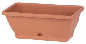 Kvetináč Strend Pro ECONOMY, truhlik, 80cm, 16 lit, podložka, terakota